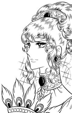 Riyoko lkeda ( oscar is so beautiful! Adult Coloring Pages, Cute Coloring Pages, Coloring Books, Colouring, Manga Drawing, Manga Art, Manga Anime, Lady Oscar, Anime Was A Mistake