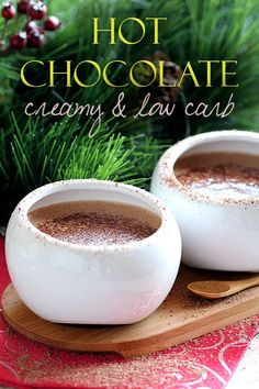 Make some hot chocolate for those cold winter nights and enjoy! This recipe is low carb, sugar free and absolutely delicious. A healthy snack for any day!