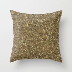 Rich Gold Throw Pillow by LLL Creations.  This design is available in many…