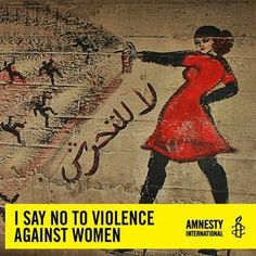 I say no to violence against ...