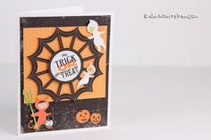 Halloween card idea. Trick or Treat -  a LD Print-and-Cut card | Under A Cherry Tree