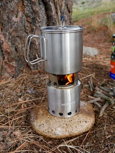Solo Stove with pot                                                                                                                                                                                 More