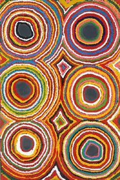 Susie Bootja Bootja Napaljarri - Untitled 1991 91 x 61 cm (Australian aboriginal art)  [per previous pinner]