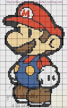 Suite à une demande, voici Mario en grille gratuite :