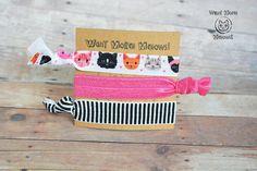 Cat hair accessories Cat hair ties Stocking stuffer Cat