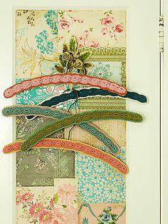 Posy gets Cosy [Alicia Paulson] makes Dottie Angel hangers Crochet Coat, Love Crochet, Crochet Gifts, Vintage Crochet, Crochet Yarn, Yarn Crafts, Sewing Crafts, Dottie Angel, Arm Knitting