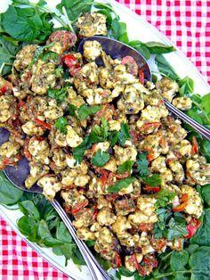 ADDICTED to VEGGIES: Pesto-Marinara Cauliflower Plate and Mediterranean Raw Food…
