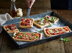 Try this tasty puff pastry pizza recipe for a delicious Friday crowd pleaser. Made with Jus-Rol puff pastry, mixed vegetables, chorizo or parma ham.