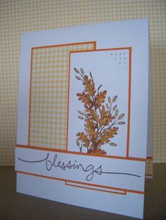 I made a Thanksgiving card for today's sketch challenge. I stamped the spray with Chocolate Chip and colored with SU ink pads and a blender pen. For the fuzzy (pussy willows?) I left one side partly uncolored. I also paper pierced the main image. Thank you for stopping by, and have an awesome afternoon! ~Roberta