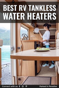 How To Upgrade Your RV To A Tankless Water Heater - Learn the best tips and tricks for upgrading your hot water heater to an rv tankless heater. Rv Water Heater, Tankless Hot Water Heater, Electric Van, Camper Tops, Rv Upgrades, Home Pictures, Rv Living, Camper Hacks, Camper Interior