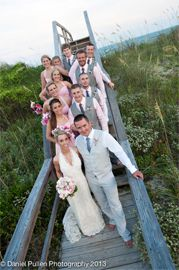 Outer Banks Wedding, Destination Wedding, NC Beach Wedding, love this picture of the while wedding party