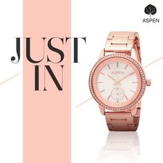 Our newest collection features pieces that mix well with your contemporary style.  #aspen #watch #fashion #women