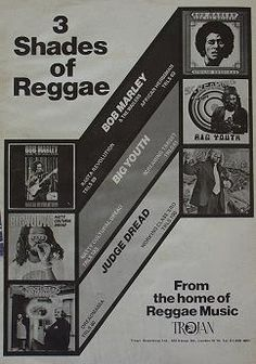 3 Shades of Reggae advert, April Music Posters, Concert Posters, Reggae Music, My Music, Northern Soul, Music Images, Cover Art, Album Covers, Musicians
