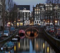 Dusk, Amsterdam, The Netherlands - Love, Love Amsterdam!