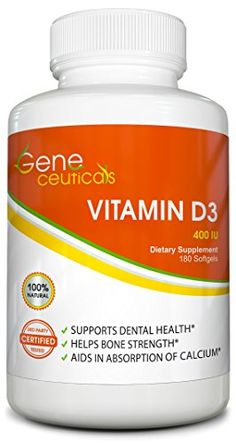 Potent Vitamin D3 Supplement  Strengthens Bones Boosts the Immune System  Improves Cognitive Function  100 Satisfaction Guarantee 180 Softgels ** Click image for more details. (Note:Amazon affiliate link) #Vitamin
