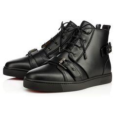 CHRISTIAN LOUBOUTIN Nono Strap Flat  Black Leather - Men Shoes - Christian Louboutin. #christianlouboutin #shoes #