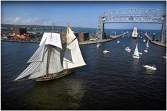 Duluth, Minnesota. Gorgeous city right on Lake Superior. The Tall Ships Festival is not to be missed.