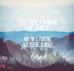 Gabrielle Aplin Mountains Lyrics