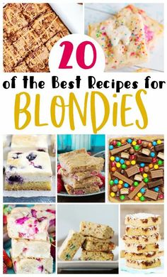 I have gathered some of the best blondies recipes around from some of my favorite blogs. Which one are you going to try first?! Easy Summer Desserts, Unique Desserts, Best Blondies Recipe, My Favorite Food, Favorite Recipes, Blondie Bar, Family Fresh Meals, Pinterest Recipes, Caramel Apples