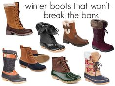 Find practical, warm and cute winter boots that won't break the bank!
