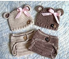 hats and matching diaper covers...so cute!