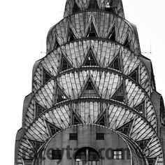 Art Deco Chrysler Building Prints Black White New York Photography NYC Art Architecture New York Prints Large Wall Art New York City Prints