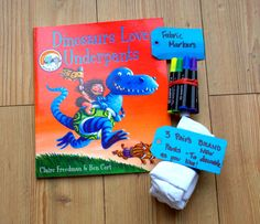 Dinosaurs Love Underpants shared by Taming the Goblin created by Make Do and Friends as a part of the  Love Books: Summer reading book exchange