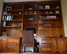 Traditional Home Office Built-in Bookcases Design, Pictures, Remodel, Decor and Ideas - page 4