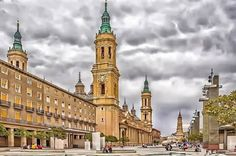 Plaza de las Catedrales, Zaragoza España.