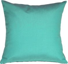 The Pillow Decor decorative throw pillow collection includes the Sunbrella Aruba Turquoise Blue Outdoor Pillow