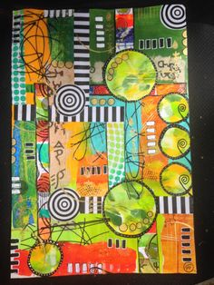 Inky Obsessions' Collage - great colors and design...