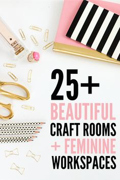 Craft Room / Home Office Tour & Makeover Reveal - Creative Green Living Get inspired with beautiful home office and craft room organization and decoration ideas! Craft Room Storage, Craft Organization, Craft Rooms, Storage Ideas, Organizing Ideas, Organization Skills, Marker, 25 Beautiful Homes, Beautiful Things