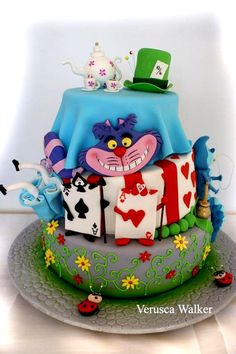 Alice In Wonderland By Verusca Walker Based On Caeks Cake Im Wunderland