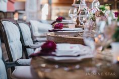 Vintage Wedding Inspiration at a Warehouse - Jasmine Star Blog