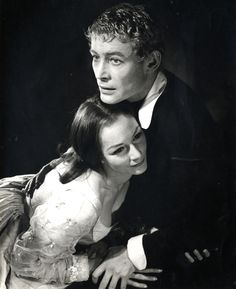 Peter O'Toole as Hamlet, Rosemary Harris as Ophelia Opening production, directed by Laurence Olivier 1963