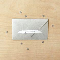 you're invited sticker set - wedding and bridal stickers - sticker paper - shower sticker