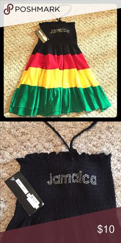 """Little girls """"Jamaica"""" halter dress Little girls """"Jamaica"""" halter dress - size M (I would estimate it would fit a young girl sz 5-6, depending on the child); NWT Dresses Casual"""