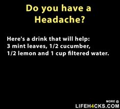 Do you have a headache - #Headache, #LifeHack, #Sick