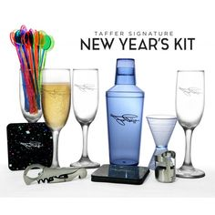 Jon Taffer Signature Bar Kit - NEW YEARS New Year's Eve Cocktails, New Years Eve Party, Kit, New Years Party