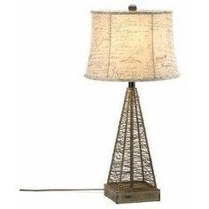 Metal Hatch Table Lamp