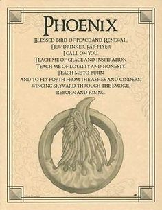 Phoenix Evocation Parchment Book of Shadows Page!  Pagan wicca witch