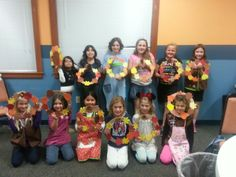 Troop 60298. Thank you wreath made from paper leaves . they wrote what they are thankful for. Glued on with foam fall shapes and pine cones.