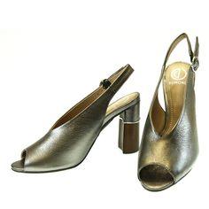 Sandália Prata Latão 4113159 Dumond | Moselle sapatos finos femininos! Moselle sua boutique online.
