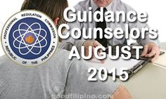 August 2015 Guidance Counselors Board Exam Results - PRC List of Passers (August Board Exam Result, Exam Results, Announcement, Boards, Planks