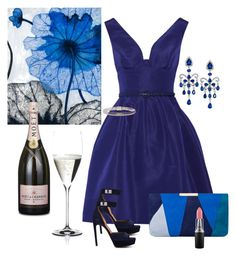 Blue Dress by gina-hession on Polyvore featuring polyvore, fashion, style, Oscar de la Renta, Givenchy, L.K.Bennett, Effy Jewelry, John Hardy, MAC Cosmetics, Grandin Road, Riedel and clothing