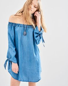 Off The Shoulder, Cover Up, Ss 17, Denim, Casual, Buddha, Shopping, Collection, Dresses