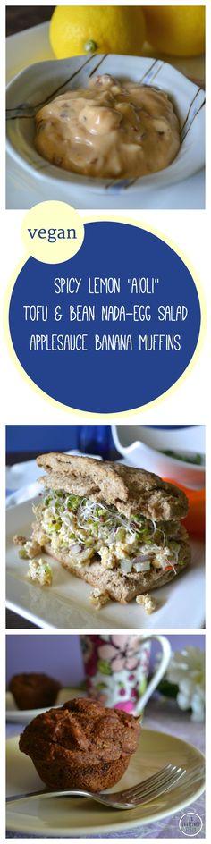 "... Tofu & Bean Nada-Egg Salad Sandwiches, and Spicy Lemon ""Aioli.&q..."