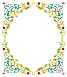 Different Colorful Floral Page Border Design HD sadiakomal
