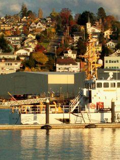 Fairhaven Village as seen from Alaskan Ferry Terminal-Bellingham WA