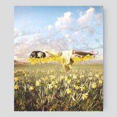 """Yellowbud"" by Alastair Magnaldo at Short Hills YellowKorner $400  28x23.6'' on Aluminum"